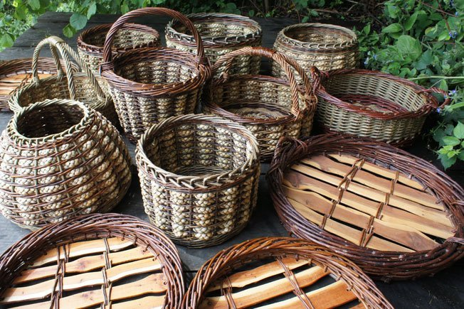 Winter Garden Image: A collection of woven baskets